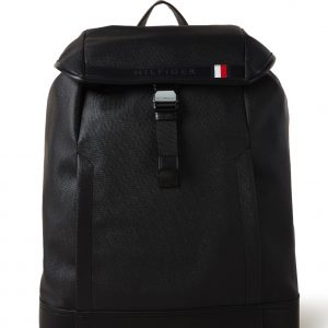 Tommy Hilfiger Coated rugzak met 15 inch laptopvak