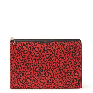 Wouf Leopard laptophoes met dessin 13 inch