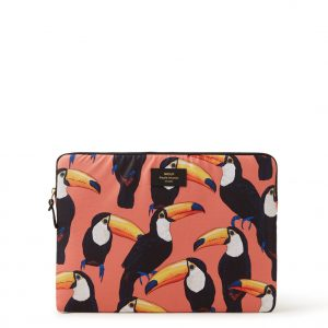 Wouf Toco Toucan laptophoes met dessin 15 inch